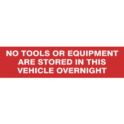 Vinyl Sign No Tools in Van - 52012 - from Toolstation