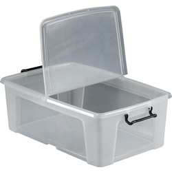 Barton Plastic Container with Hinged Folding Lid 50L - 52020 - from Toolstation
