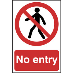 Prohibition Sign No Entry 148x210 - 52050 - from Toolstation