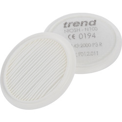 Trend Trend Air Stealth Half Mask Respirator P3 Filters - 52074 - from Toolstation