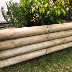 Log Lawn Edge 100 x 23cm - 52170 - from Toolstation