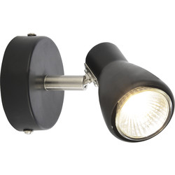 Philips Curtis Spotlight Black Single Spot - 52207 - from Toolstation