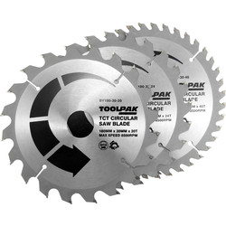 Toolpak Toolpak TCT Circular Saw Blades 180 x 30mm - 52257 - from Toolstation