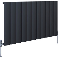 Kudox AluLite Arc Textured Black Designer Radiator 600 x 1040mm 3436Btu