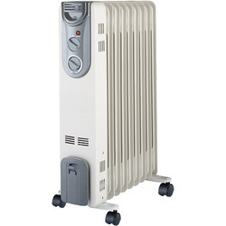 Unbranded Oil Radiator 2kW - 52406 - from Toolstation