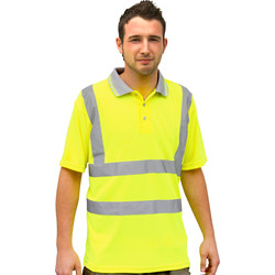 Equipment Hi Vis Polo Shirt Large - 52440 - from Toolstation