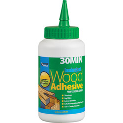 Everbuild Polyurethane Wood Adhesive 750g 30 Minute - 52489 - from Toolstation
