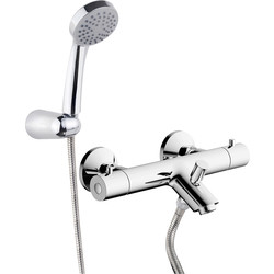 Ebb and Flo Thermostatic Bath Shower Mixer Tap  - 52515 - from Toolstation