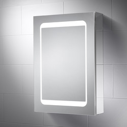 Sensio Sensio Belle Single Door LED Mirror Cabinet 700 x 500 x 140mm - 52542 - from Toolstation