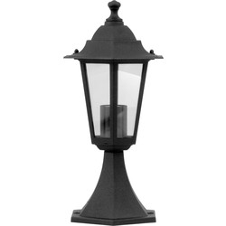Meridian Lighting Victorian Style Pedestal Lantern Black 60W ES - 52556 - from Toolstation