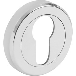 Serozzetta Serozzetta Escutcheon - Euro Profile Polished Chrome - 52607 - from Toolstation