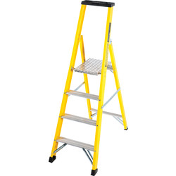 TB Davies TB Davies Fibreglass Platform Step Ladder 4 Tread SWH 2.5m - 52638 - from Toolstation