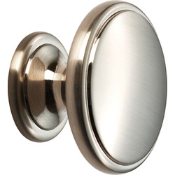 Carlisle Brass Oxford Knob 38mm Satin Nickel - 52658 - from Toolstation