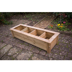 Forest Garden Bamburgh Herb Planter 33cm (h) x 150cm (w) x 50cm (d) - 52678 - from Toolstation