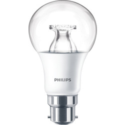 Philips Philips LED Warm Glow Dimmable A Shape Lamp 8.5W BC (B22d) 806lm - 52732 - from Toolstation