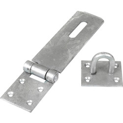 Heavy Duty Safety Hasp & Staple 180mm Galvanised - 52923 - from Toolstation