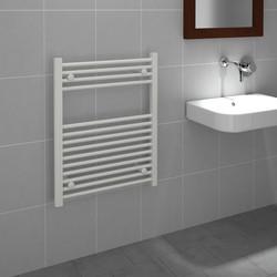 Kudox White Flat Ladder Towel Radiator