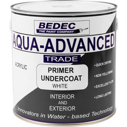 Bedec Bedec Aqua Advanced Primer & Undercoat White 2.5L - 53072 - from Toolstation