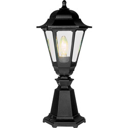 ASD ASD Patio Coach Lantern Polycarbonate 100W BC Black - 53081 - from Toolstation