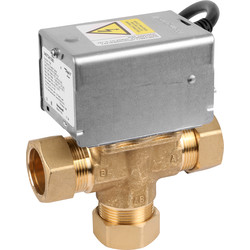 Honeywell Honeywell Home 3 Port Mid Position Valve 28mm - 53143 - from Toolstation
