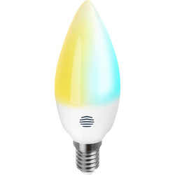 Hive Hive Active Light Cool to Warm White Smart LED Candle Bulb 5.8W SES (E14) 470lm - 53205 - from Toolstation