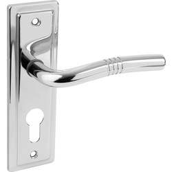 Urfic Nevada Door Handles Euro Lock Polished - 53347 - from Toolstation