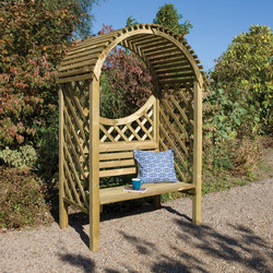 Rowlinson Rowlinson Keswick Arbour 207.5 (h) x 132cm (w) x 80cm (d) - 53453 - from Toolstation
