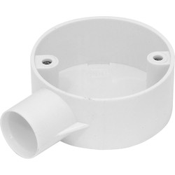 Profix 25mm PVC Conduit Box 1 Way End Box White - 53461 - from Toolstation