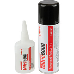 Unika MitreBond Aerosol Kit 50g & 200ml - 53502 - from Toolstation