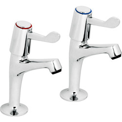 Deva Contract Lever Pillar Kitchen Taps  - 53529 - from Toolstation