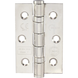 Eclipse Ironmongery Grade 7 Ball Bearing Hinge Pol. Chrome - 53535 - from Toolstation
