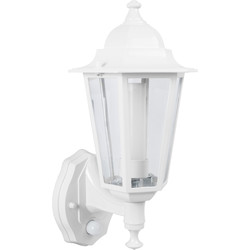 Green Lighting P-Lux 8W LED Photocell & PIR Coach Lantern White - 53536 - from Toolstation