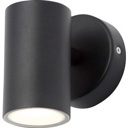 Leto Integrated LED Stainless Steel Up or Down Light IP44 Black 3W 250lm - 53558 - from Toolstation