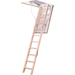 TB Davies TB Davies EuroFold Timber Loft Ladder 2.8m - 53695 - from Toolstation