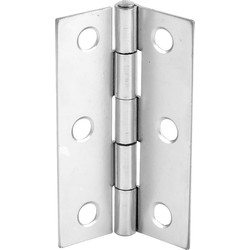 Chrome Plated Butt Hinge 75mm - 53754 - from Toolstation