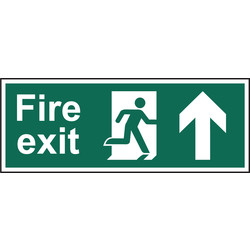 Fire Safety Sign Fire Exit Up 400x150 - 53786 - from Toolstation