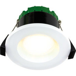 Luceco FType Compact Regressed Integrated Colour Changing CCT 6W Fire Rated IP65 Downlight