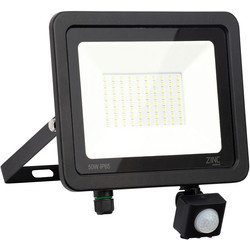Zinc Slimline LED PIR Floodlight IP65 50w 4000lm