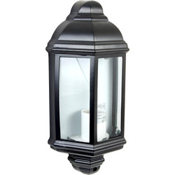 Meridian Lighting Victorian Style IP33 Half Lantern Black 60W ES - 53917 - from Toolstation