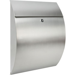 Burg Wachter Riviera Stainless Steel Post Box H460 x W335 x D130 - 53975 - from Toolstation
