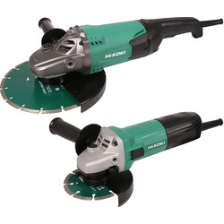 Hikoki Hikoki G23ST / G12ST 115mm & 230mm Angle Grinder Twin Pack 240V - 54001 - from Toolstation