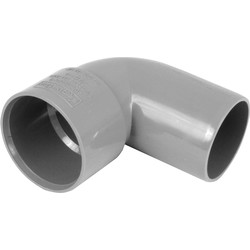 Aquaflow Solvent Weld 90° Conversion 40mm Grey - 54066 - from Toolstation