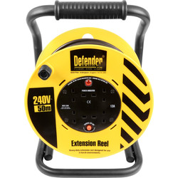 Defender Defender 13A Open Cable Reel 50m 240V - 54101 - from Toolstation