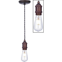 Inlight Vintage Pendant Cable Set Bronze - 54119 - from Toolstation