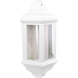 LED IP44 Half Lantern 7W White 540lm - 54188 - from Toolstation