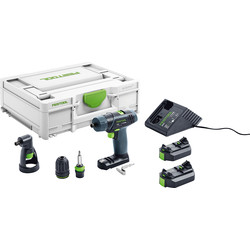 Festool Festool TXS 12V Cordless Drill 2 x 2.6Ah - 54218 - from Toolstation