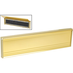 Unbranded Flushback Letter Plate Gold - 54228 - from Toolstation