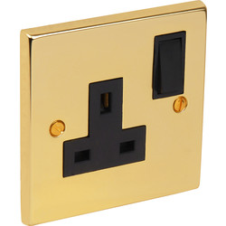 Axiom Victorian Switched Socket 1 Gang - 54247 - from Toolstation