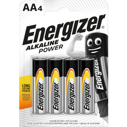 Energizer Energizer Alkaline Power AA E91 BP 4 AA - 54290 - from Toolstation