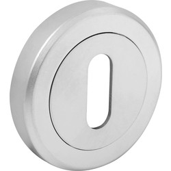 Serozzetta Serozzetta Escutcheon - Standard Profile Satin Chrome - 54316 - from Toolstation